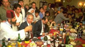 Una celebración de Mimouna con el Presidente israelí, Shimón Péres.