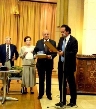 José Antonio Viera-Gallo recibe el Premio Martin Buber 2013