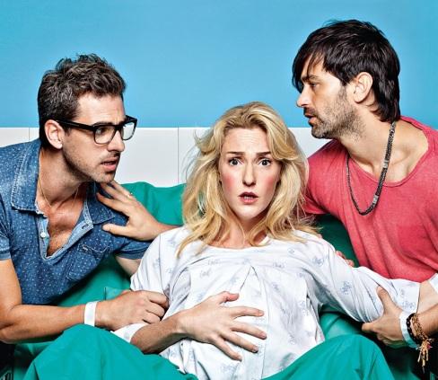Los protagonistas de la serie son, de izquierda a derecha, Erez (Yiftach Klein), Talia (Maya Dagan) y Sami (Yehuda Levi)